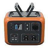 PowerOak Bluetti AC50S 500Wh Generador Solar Portátil con Inversor de 300W y Salidas AC/DC/USB, Generador Electrico Solar Power...