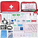Botiquín de Primeros Auxilios de 200 Piezas,con Hielo, Manta de Emergencia,Máscara de RCP, Survival Tools Kit Bolsa Médica...