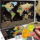 Mapa Mundi Rascar (61 X 43 cm) + Mapa Europa Rascar (46 X 33 cm). El paquete de regalo incluye una herramienta para rascar con...