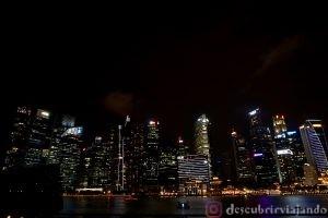 Singapur: Skyline nocturno