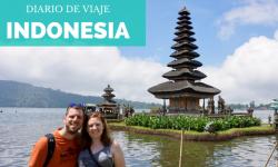 Templo lago Bratan Indonesia