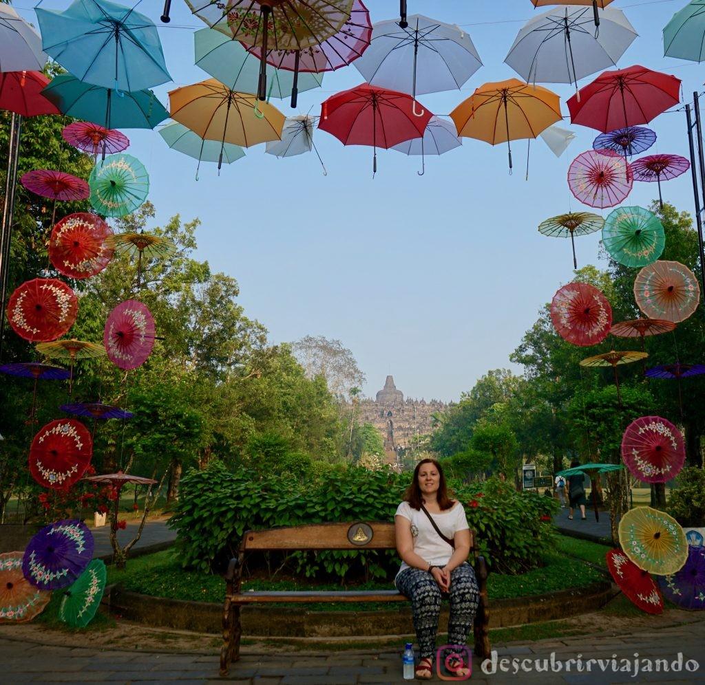 Borobudur paraguas