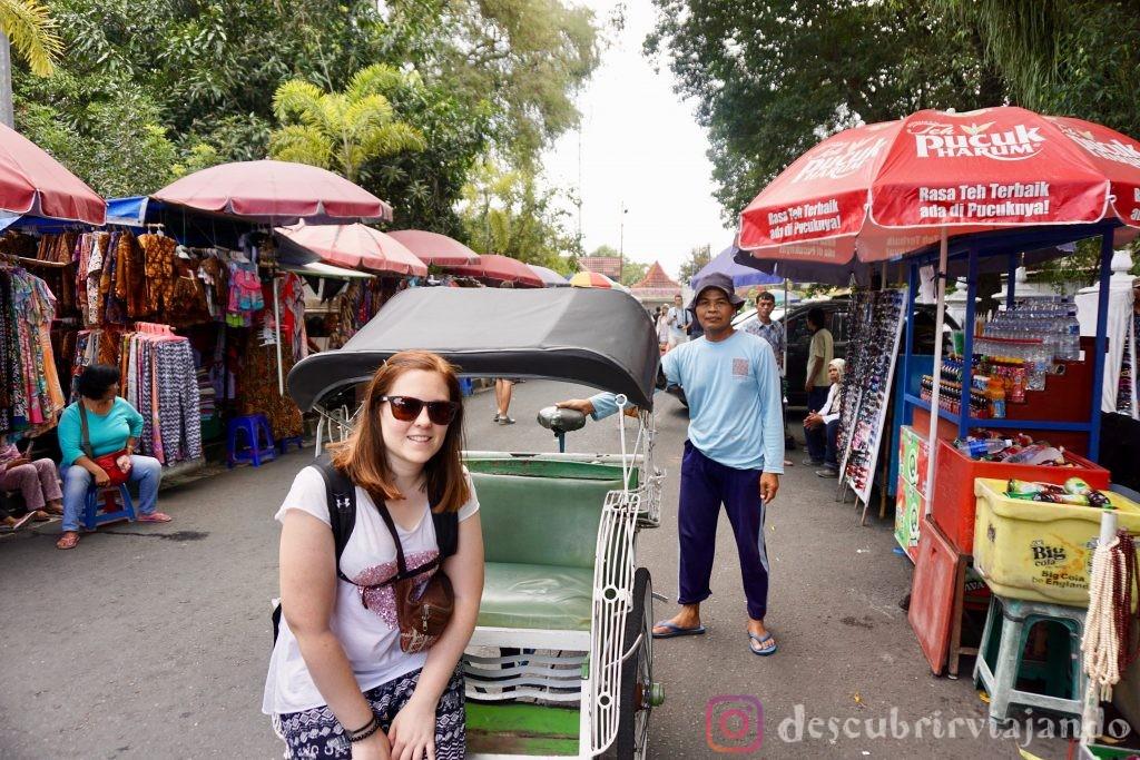 Becak en Yogyakarta