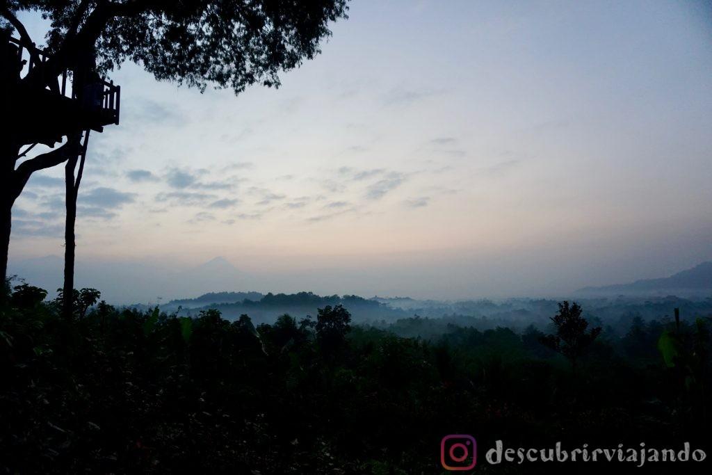 amanecer mirador Borobudur