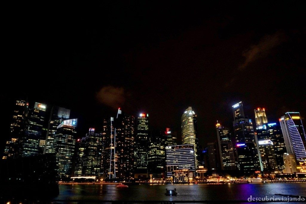Singapur - Night Skyline