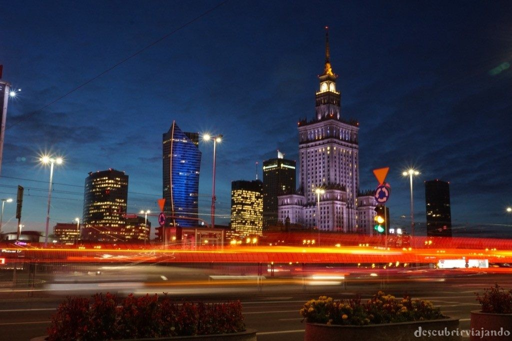 Varsovia - night skyline