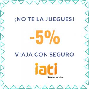 descuento seguro viaje 5% IATI